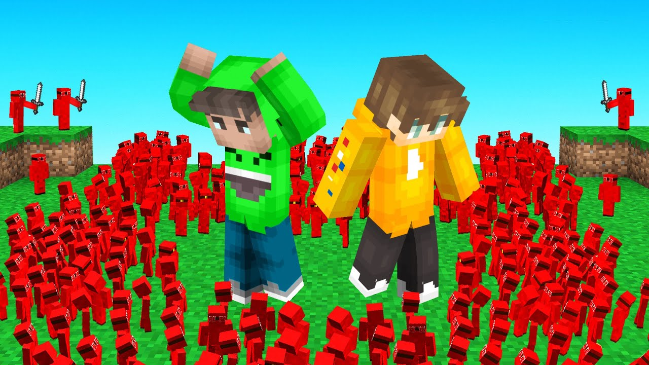 10,000 CLAY SOLDIERS vs MY FRIENDS (Minecraft)