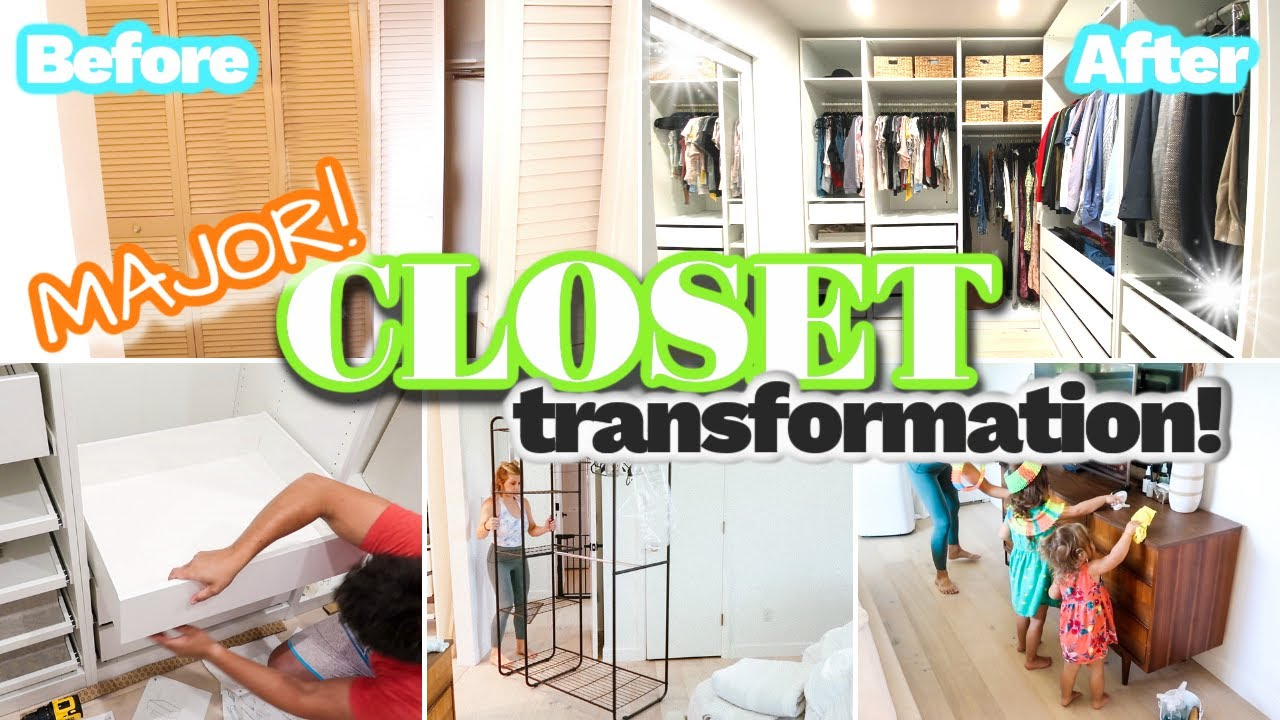 CRAZY! MASTER CLOSET TRANSFORMATION | HUGE DECLUTTER | ORGANIZE AND CLEANING OF OUR MASTER BEDROOM!