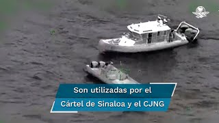 La Marina Armada de México identificó el año pasado tres rutas aéreas por el Océano Pacífico y mar Caribe, utilizadas por los cárteles de Sinaloa y Jalisco Nueva Generación y sus aliados, para trasladar cocaína desde Sudamérica con destino a los Estados Unidos