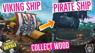 COLLECT WOOD FROM A PIRATE SHIP OR VIKING SHIP! STEP 1 OF 3 ! WEEK 10 CHALLENGE!