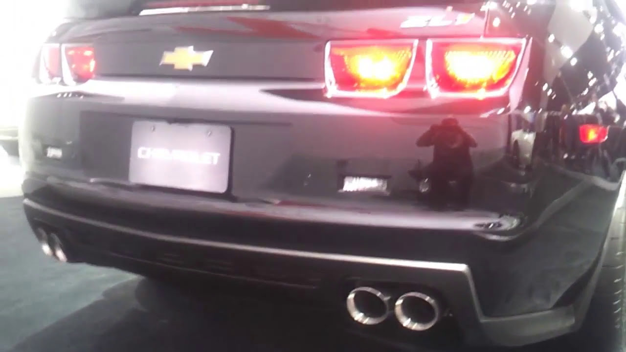 Camaro Zl1 Triple Black 2012 Hd Close Up Youtube