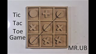 How To Make A Tic Tac Toe Game At Home With Cardbaord