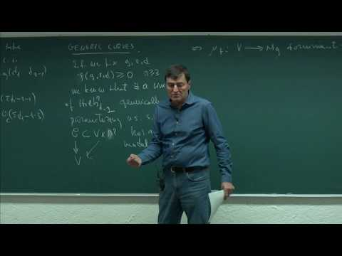 Algebraic Curves and their moduli spaces. Session 5