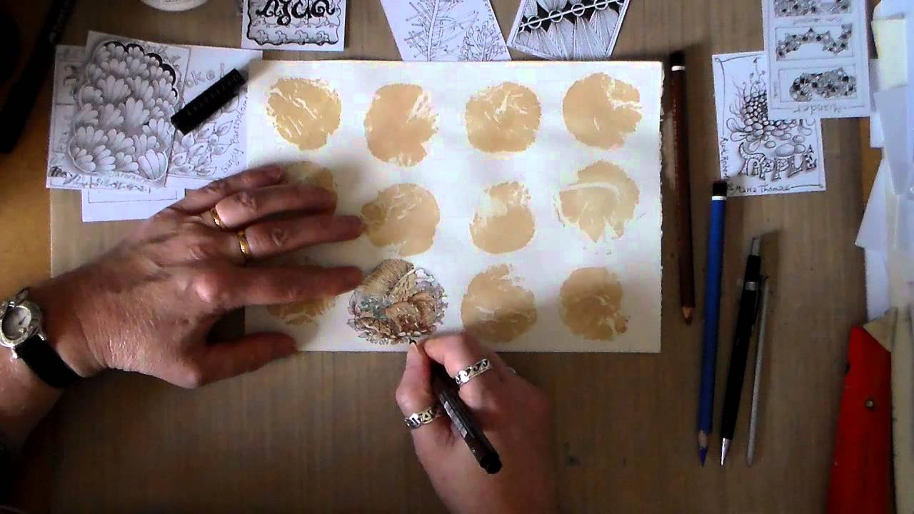 how to create tea bag art