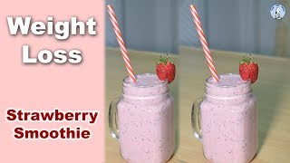 Tasty Strawberry Smoothie Recipe | Low-fat Strawberry Smoothie for Weight Loss | Diet With Amna