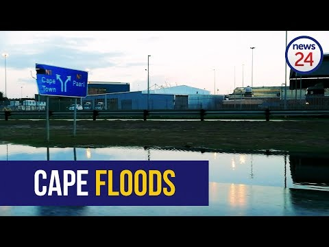 WATCH: Heavy rains flood Cape Town roads
