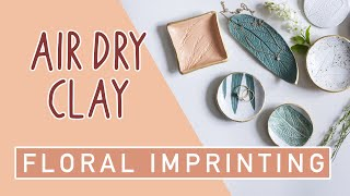 DIY Jewellery Trays - Imprinting Air Dry Clay