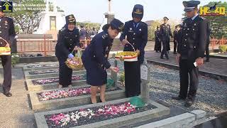 Upacara Tabur Bunga Kanwil Kemenkumham Jawa Tengah Di Taman Makam Pahlawan Semarang