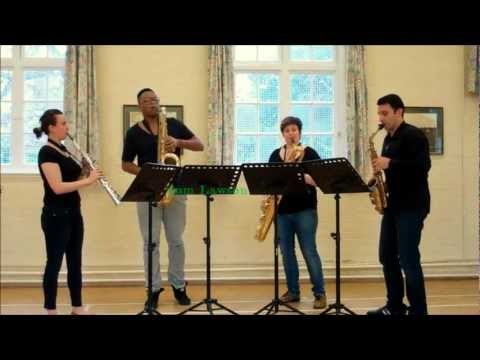 Prelude in D minor - saxophone quartet music