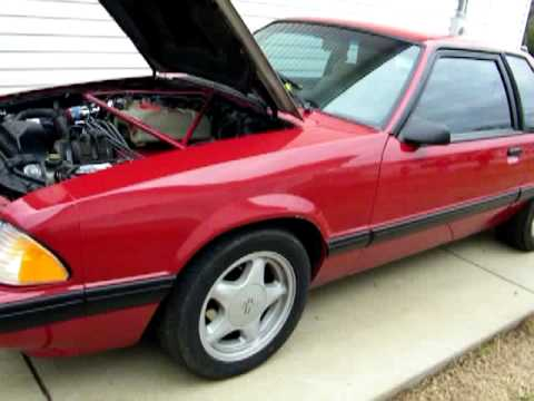 1991 mustang lx 4 cylinder conversion  YouTube