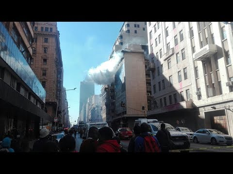 Gauteng Premier David Makhura's office on fire in Johannesburg CBD