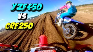 250 vs 450 *EPIC DIRT BIKE BATTLE!*