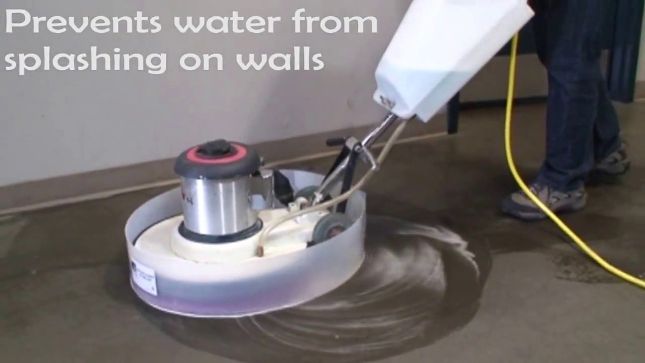 Floor machine floor buffer splash guard youtube dailygadgetfo Image collections
