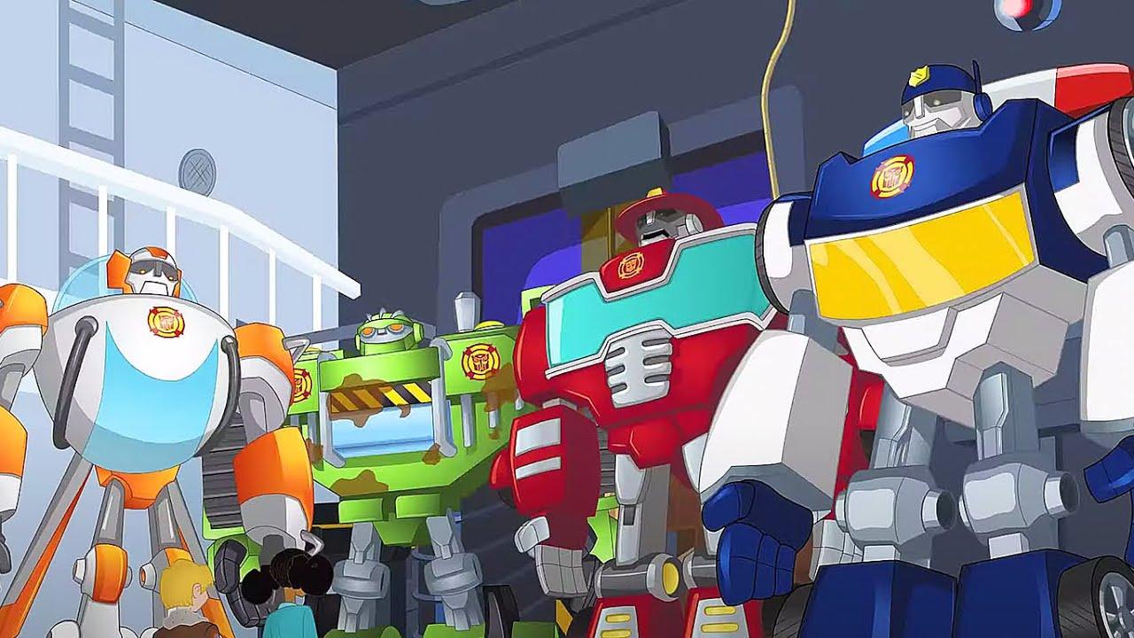 Lá vêm os Autobots! | Rescue Bots | desenho animado infantil | Transformers para crianças