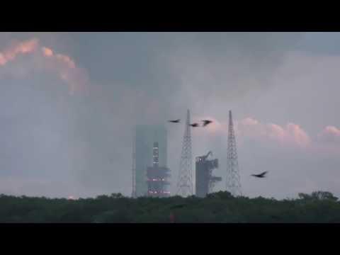 Roket ve uzay mekiği fırlatma anı yüksek kalite ses