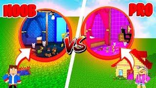 Minecraft NOOB VS PRO : SECRET BEDROOM BASE in Minecraft!!!
