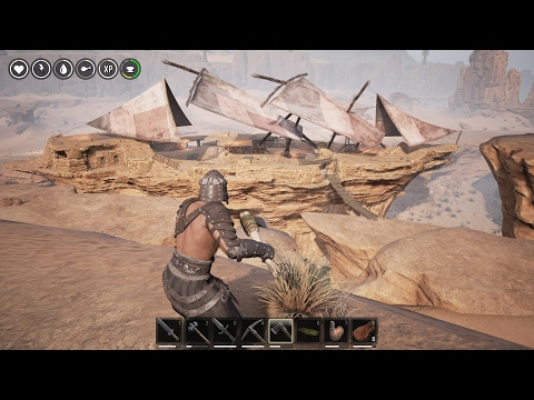 Conan Exiles 6! Stone Ship adventure! Free Mitra location!