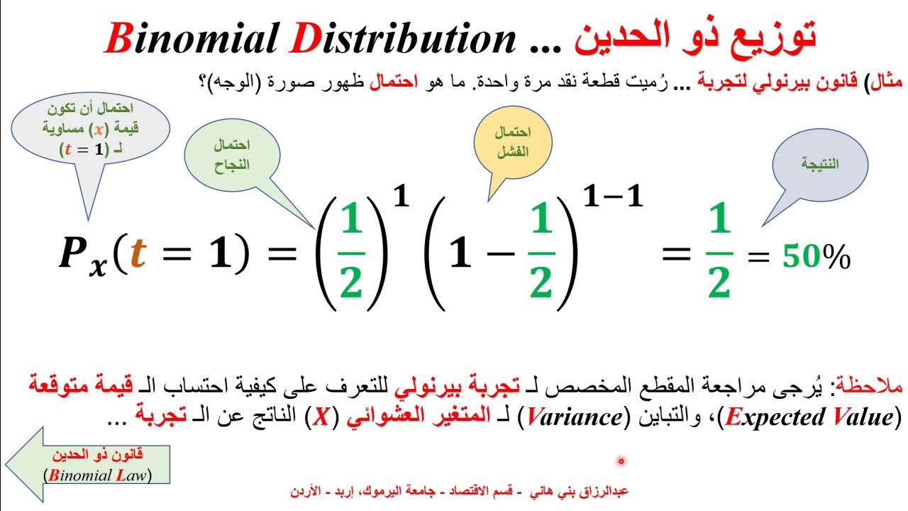 توزيع ذو الحدين Binomial Distribution