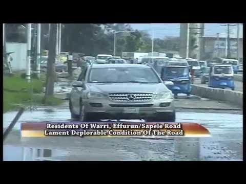 Residents of Warri, Effurn/Sapele Road lament deplorable condition of the road
