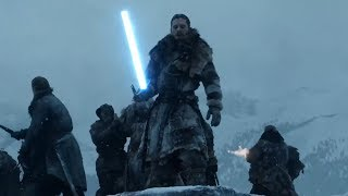 Beyond the Wall Lightsaber Battle | Game of Thrones + Star Wars