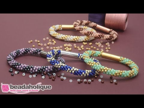 How To Make The Splendid Spiral Kumihimo Bracelet Kits By Beadaholique
