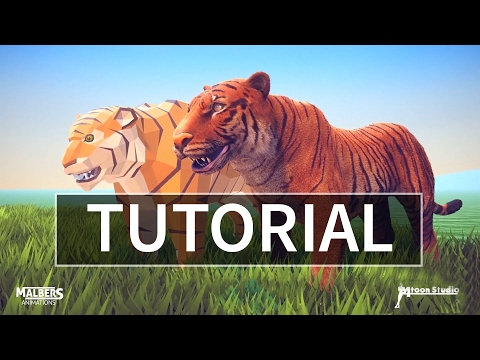 How to use animations on another asset with MAX and Unity 5