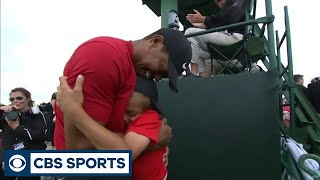 Tiger Woods celebrates emotional 2019 Masters win with his family | CBS Sports