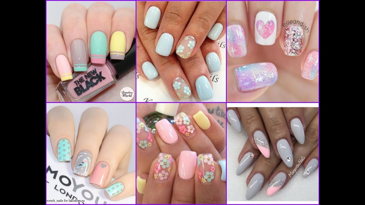 Gorgeous Pastel Nail Art Compilation - Spring Nail Trend 2018 - YouTube