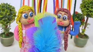FASHION SHOW! -In- Blue & Yellow Baby Superhero Stop Motion Cartoons For Kids