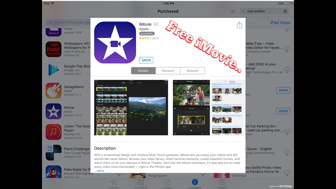 How To Download Imovie For Free On Ios - Youtube-7585