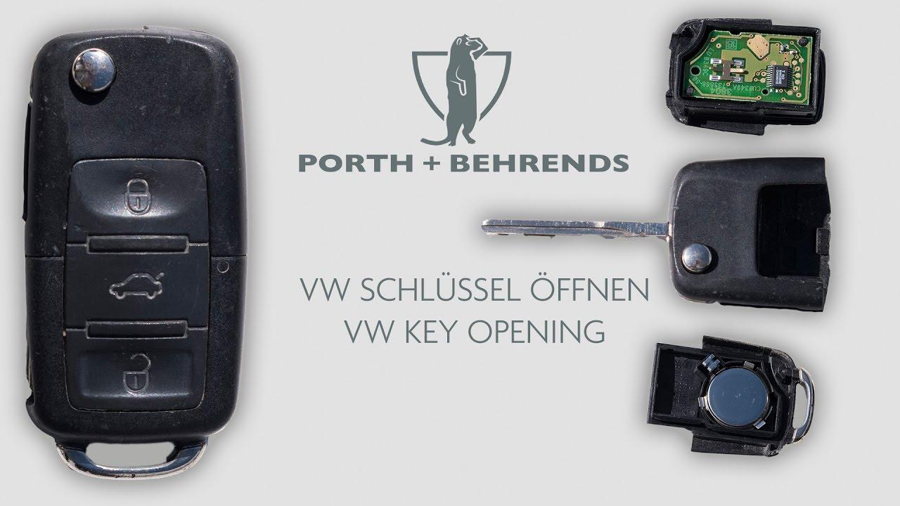 vw schl ssel ffnen vw key opening youtube. Black Bedroom Furniture Sets. Home Design Ideas