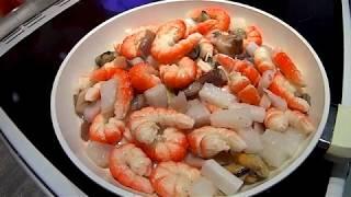 Паста с морепродуктами в сливочном соусе это очень Вкусно Быстро Просто