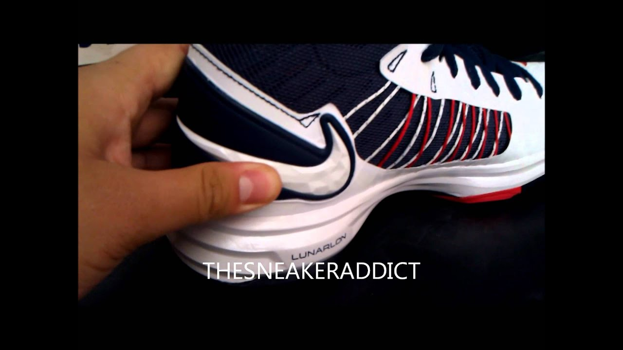 reputable site 8c751 16e56 Entire 2012 Nike+ Lunar Hyperdunk Olympic Sneaker Pack Review W   DjDelz