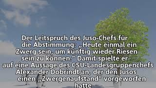 SPD-Sonderparteitag im Liveticker –              SPD ringt sich zu Koalitionsverhandlungen durch