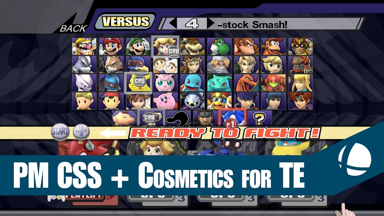 Project M CSS Character Cosmetics For Legacy TE YouTube