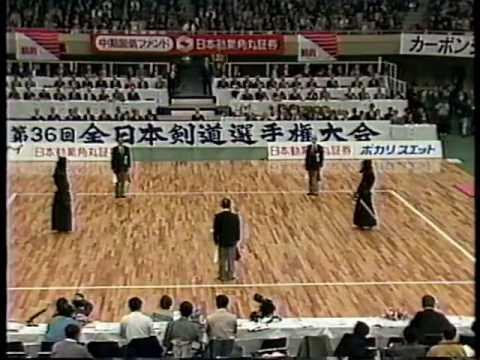 第36回 (1988) 全日本剣道選手権大会【準決勝】福井(広島) Vs 林(北海道)