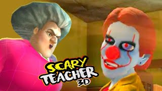 SCARY TEACHER NEW EVIL CLOWN PENNYWISE Horror House Escape - Gameplay - Walkthrough 3 [Android IOS]