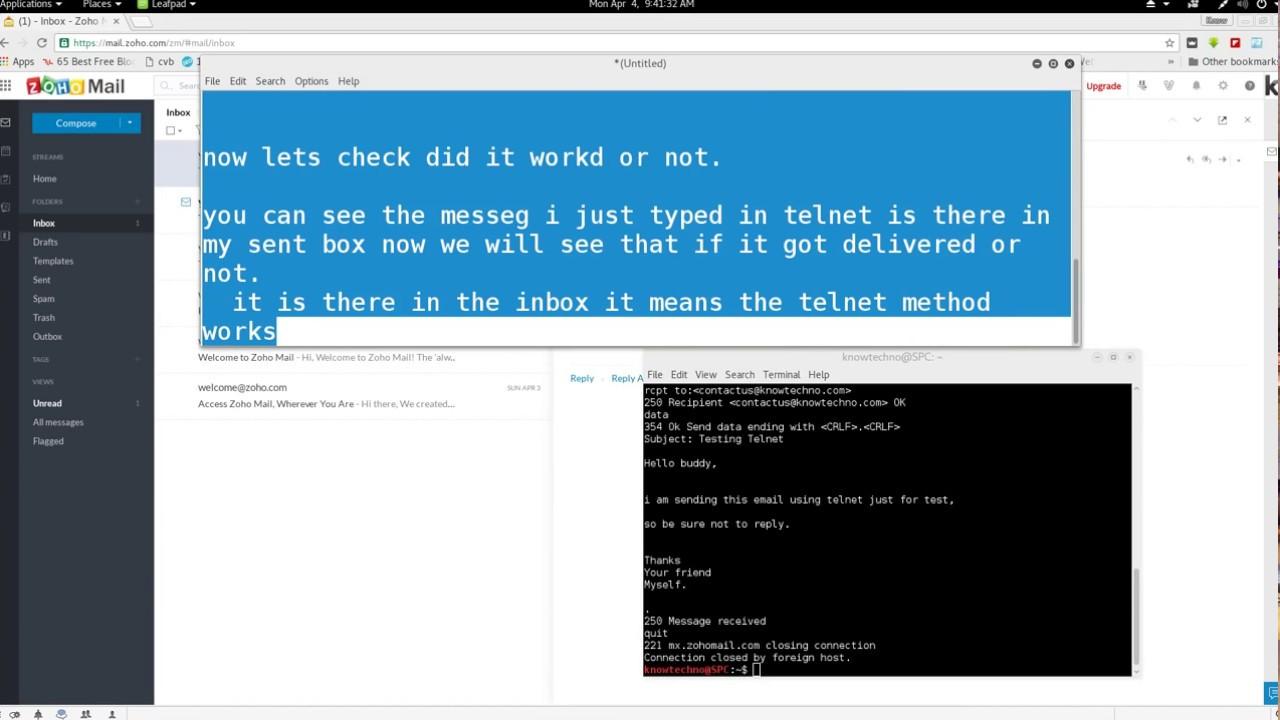 Sending Emails Through Telnet with SMTP  - KnowTechno