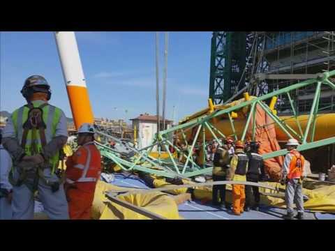 5 Killed In Crane Crash At Samsung Shipyard