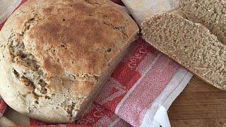 Ржаной хлеб  Хлеб на кефире  Хлеб в духовке  Пп хлеб  Полезный хлеб