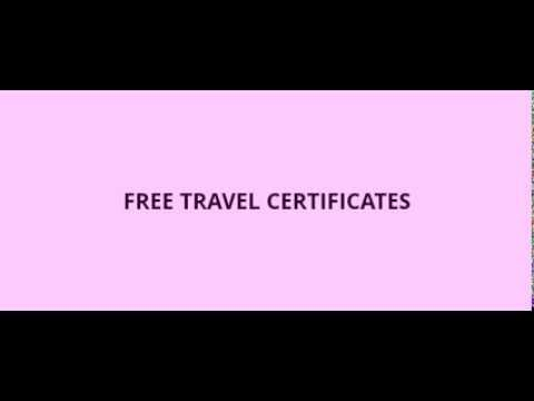free travel certificate youtube