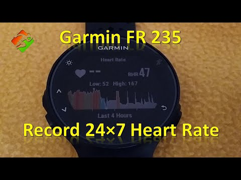 Garmin FR 235 - Record 24×7 Heart Rate