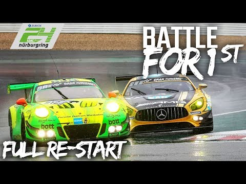 Full Battle for Position 1 after Re-Start | ADAC Zurich 24h-Race 2018
