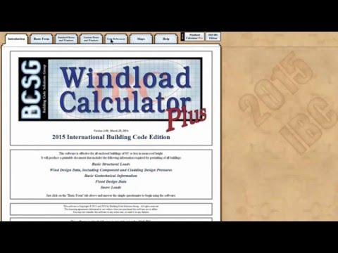 Windload Calculator for the 2015 IBC - YouTube