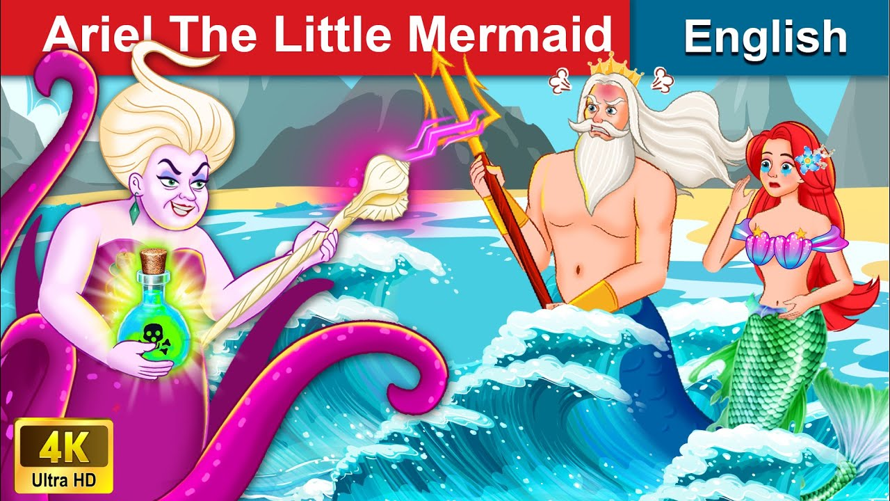 Ariel The Little Mermaid 👸 Bedtime stories 🌛 Fairy Tales For Teenagers | WOA Fairy Tales
