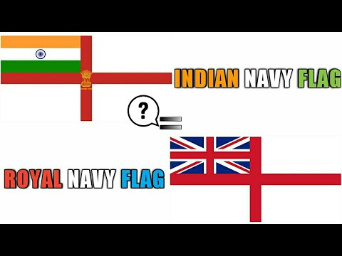 Why Indian Navy Flag Is Similar To Royal Navy? Indian Navy Flag History (Hindi)