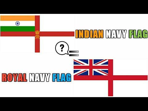 Why Indian Navy Flag Is Similar To Royal Navy? Indian Navy Flag History (Hindi)