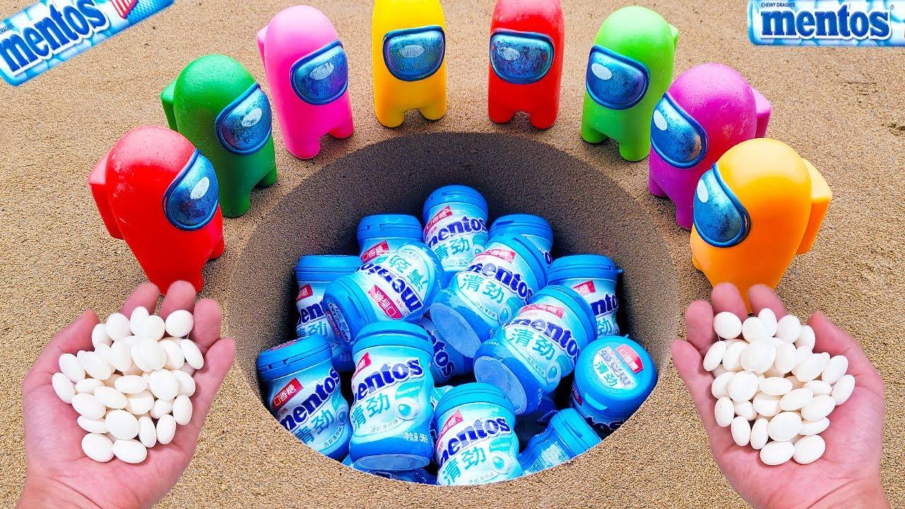 Giant Coca Cola, Fanta, Sprite and Big Pepsi, Mirinda, 7up, Chupa Chups vs Mentos Underground