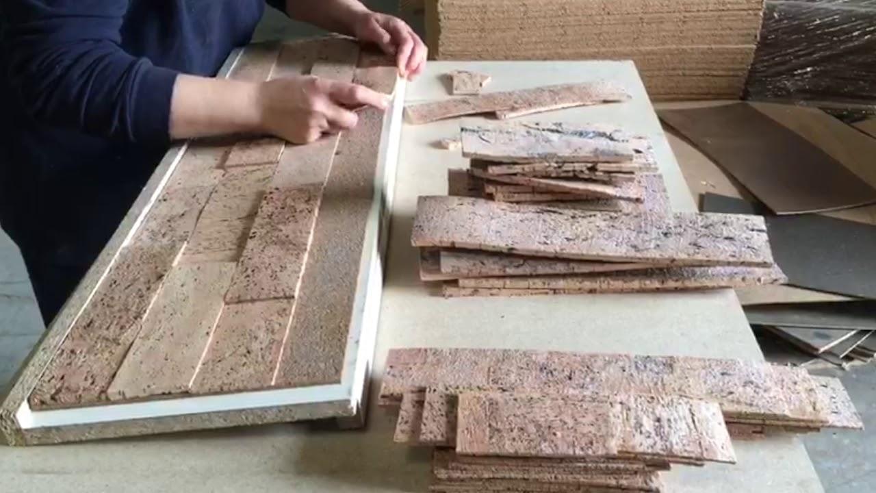 - Peel And Stick Cork Wall Tiles - YouTube