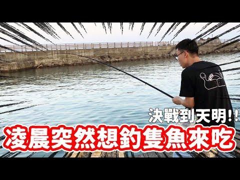凌晨突然想釣隻魚來吃 那就直接出發了啊!